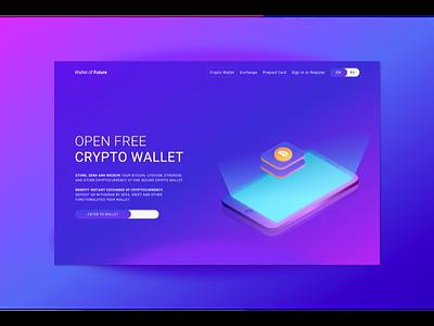 Crypto Wallet web wallet graphic design crypt