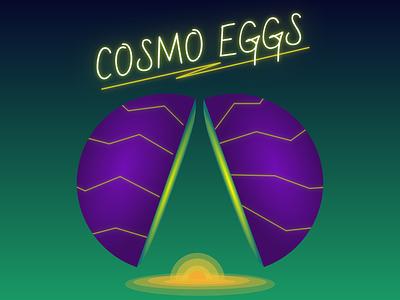 Cosmo Eggs illustration design vector egg cosmo alien fun