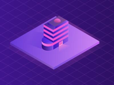 Building building illustration design vector