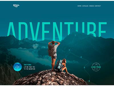 Adventure adventure tourism designe web