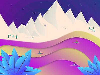 Seasons ui ux graphic vector illustration site web design