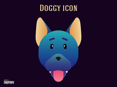 Doggy icon dog graphic vector illustration design web