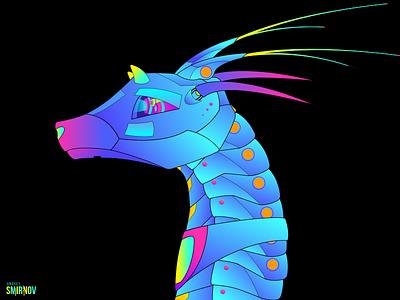 Antelope Black fun graphic vector illustration web design