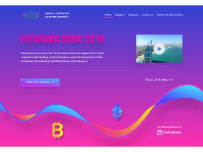 Futurama Dubai part page ux ui web design