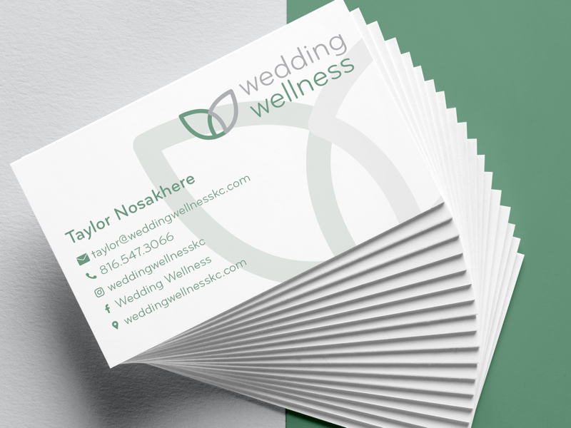 Wedding wellness business cards by cooper schumacher dribbble new cards printed for wedding wellness featuring soft touch gives a smooth almost rubber like feel similar to a yoga mat and spot gloss on the back a reheart Choice Image