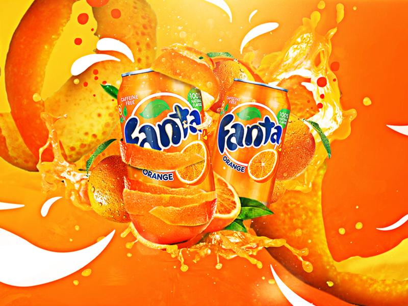 Fanta swirls orange package illustrator photoshop illustration graphicdesign design image visual beverage fanta