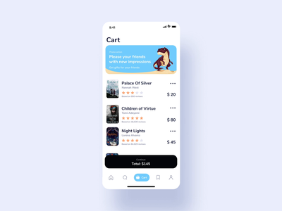 Book app order wallet card payment cartoon illustration app user inteface concept ux dailyui flat clean ui design