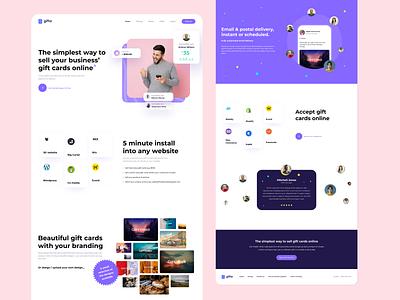 Gifta Landing Page uxdesign web website concept ux flat dailyui clean ui design