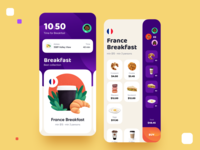 Foodtime — Time to eat breakfast france group profile time country flag delivery food vector user inteface uxdesign website ux concept dailyui clean ui design illustration