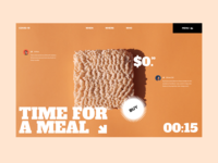 Time for a meal brand menu people buy covid logo branding user inteface web uxdesign website ux concept dailyui clean ui design