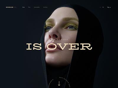 BREAK CL. hero banner heroes shop store branding user inteface web uxdesign website concept dailyui clean ui design