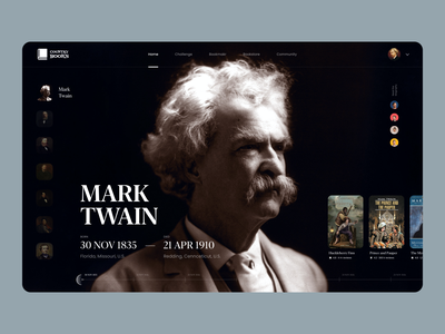 Country Books friends reader app reading reader books biography bio profile user interface web uxdesign website flat ux concept dailyui clean ui design