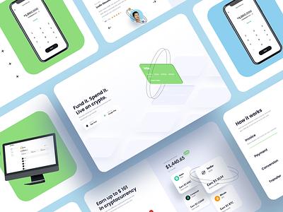 Busha website landing app currency crypto pay cards bank wallet branding user inteface web website flat ux dailyui clean ui design