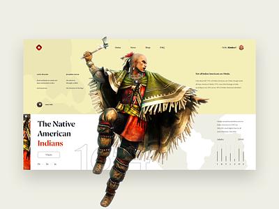 Injun history site ecommerce concept animation user inteface clean branding art ui ux uxdesign vector website web illustration flat design app dailyui game game app