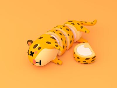 Leopard cat skin cake