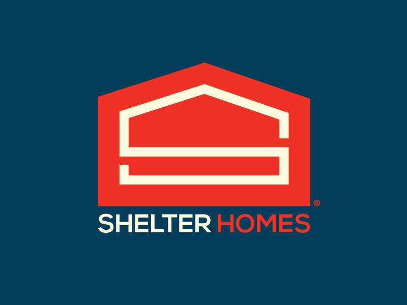 Shelter Homes branding mark identity logo s