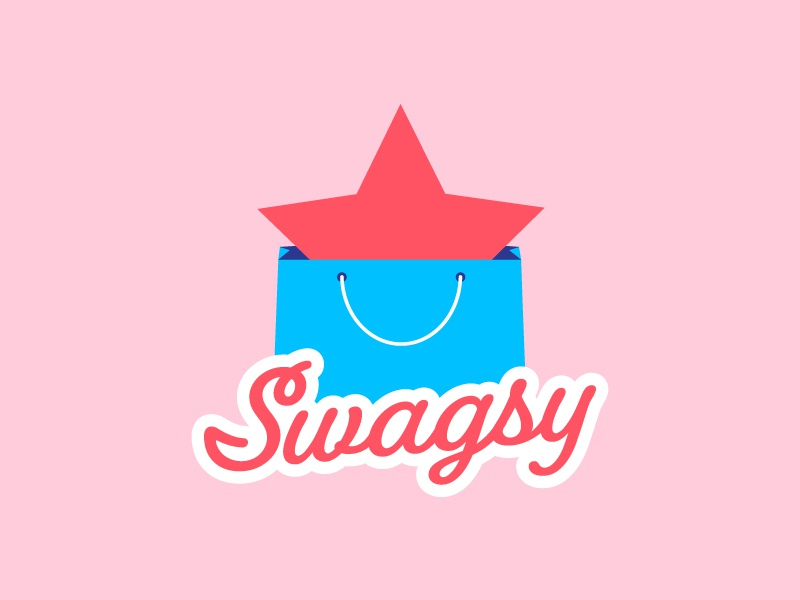 Swagsy star bag branding identity logo