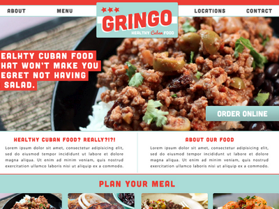 Gringo - One Page Site