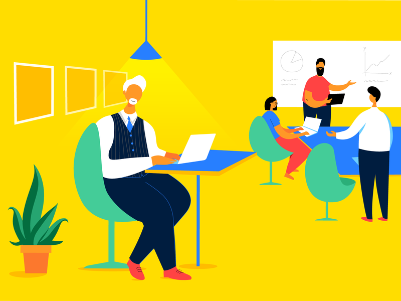 Explainer Video In-between Shot animation userinterface branding business illustration ux website netbramha design ui