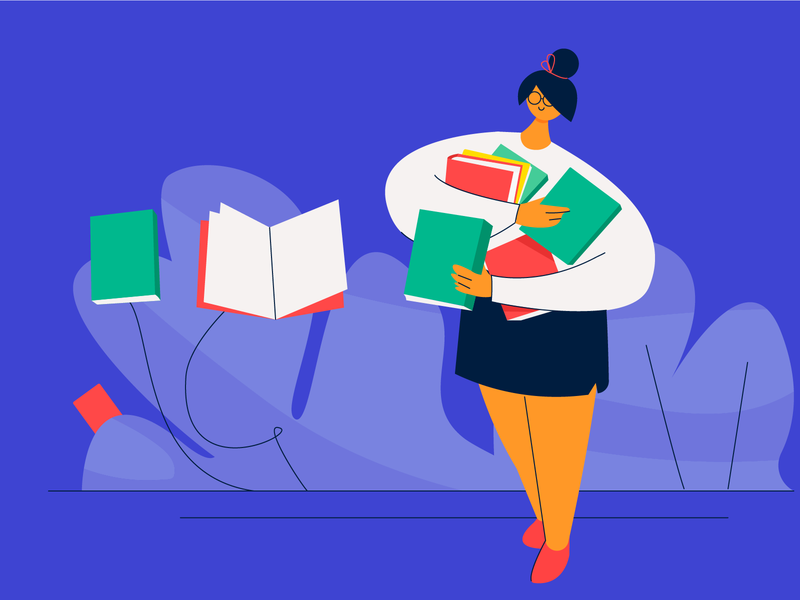Illustration On Best Books for Designers website flat design business ux illustration netbramha design ui