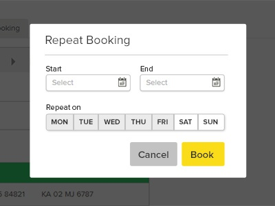 Repeat Booking Modal