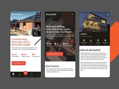 Brick & Bolt - 3 characters app branding icons business illustration ux website netbramha design ui