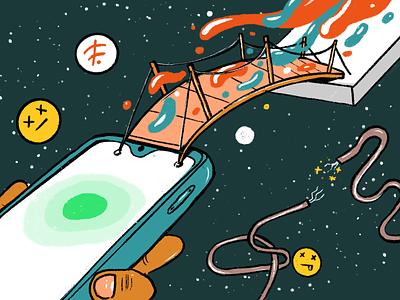 Designing for the next billion users - Offline state design app branding icons business illustration ux website netbramha design ui