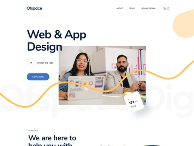 Webpage UI | Ofspace One Year Celebration website design web design webdesign website web landing page dribbble best shot dribble branding design brand identity brand design brand branding ofspace 1 year ofspace agency ofspace