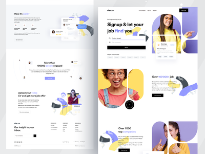 Job Landing UI job ui joblisting trend2021 creative design website design logo minimalist education website education job search job application jobs ofspace design webdesign dribbble 2021 grabstar websites designs