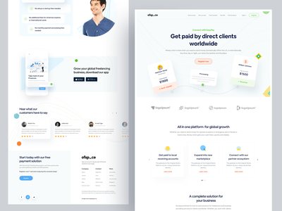 Fintech Home page I Ofspace ofspace agency fintech logo clean ui ofspace money management money transfer homepage design finance app financial services agency ux ui visual design fintech app fintech websites