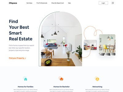 Real Estate Home page I Ofspace website design landing page property property management design ofspace branding real estate agent ui agency landing page uiux ux webdesig real estate branding real estate agency real estate logo realestate