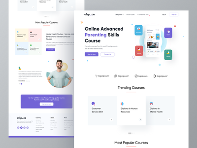 eLearning Web exploration I Ofspace ios colorful design landing page website design ux icon design minimal course app popular webdesign branding education website trendy design education app learning platform learning app course