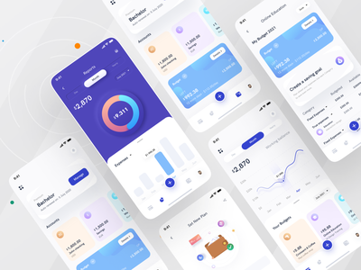 Cost management Mobile app I Ofspace finance app branding ofspace trendy minimal fintech app fintech app ios app money app money management ux desgin uxui user interface mobile app mobile colorful