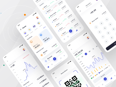 Cryptocurrency App I Ofspace fintech finance app graphic design ofspace agency branding minimal clean ui currency exchange wallet app wallet bitcoin coins app design mobile exchange rate cryptocurrency crypto wallet crypto