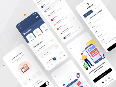 Money management App I Ofspace mobile design branding ios app finances financial app finance fintech branding fintech online banking ofspace illustration money management money app money mobile app design mobile app mobile ui mobile
