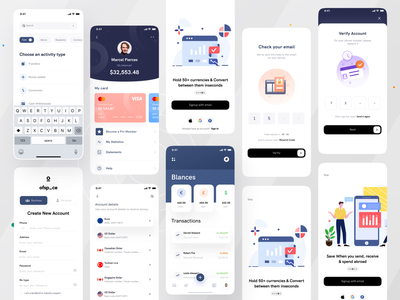 Money management App I Ofspace ux ui user experience interaction design ofspace agency online banking fintech app fintech design inspiration uiux user interface clean ui money app money management money financial app finance app financial finance
