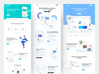 Landing Page UI Kit web design ux design ofspace agency ofspace academy ui ux vector illustration ios app app design ofspace branding logo motion graphics graphic design 3d animation