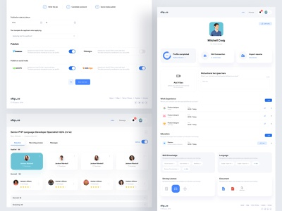 Job UI Design ofspace acedemy ofspace agency vector illustration ios app app design ux ofspace ui branding logo motion graphics graphic design 3d animation