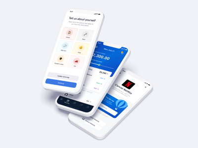 Money Management App I Ofspace fintech minimal payment ios app app interface design budgeting online banking finance financial application wallet wallet app money mannagement money mobile app mobile