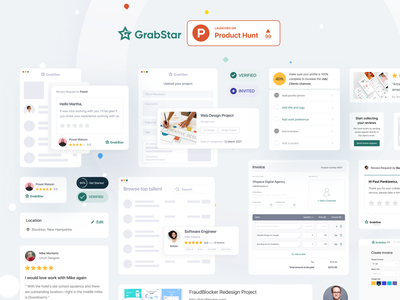 GrabStar Launched on Product Hunt ui ux website review platform freelancer review product product hunt producthunt grabstar
