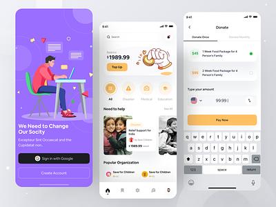 Crowdfunding App ux ui app design crowdfunding ios social app funding charitable organization charity mobile app mobile