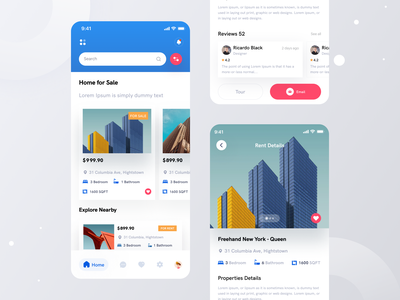Real Estate App I Ofspace userexperience ux uiux userinterface clean ui minimal design buy property ios application mobile app mobile app property management property realestate real estate