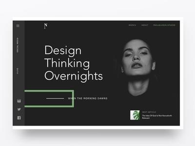 Visual Design Black Header