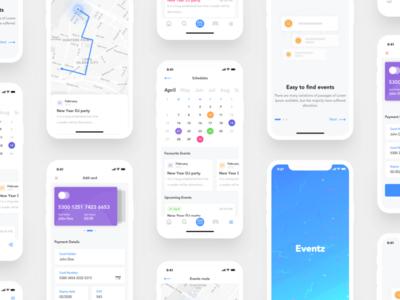 Eventz   UI Kit for Event & Party App checkout payment location app event app calendar party app event