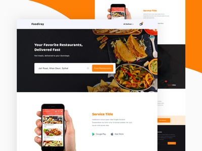 Food Delivery Service Homepage I 4