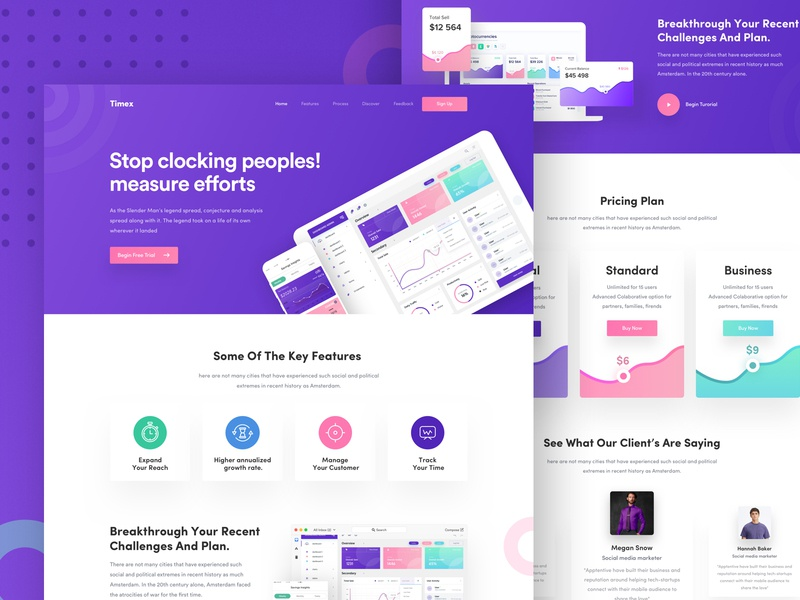 Web Application Landing page webapp product promotion marketing page dashbaord dashboard ui branding web gradient gradient graph webapplication business best website 2018 2018 trends icon ux typography ui design illustration