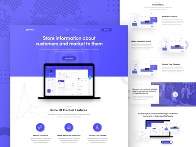 Web Application Landing page webapp webapplication ux ui store information product typography marketing icon design illustration graph gradient dashboardui dashboard business branding best website 2018 2018 trends