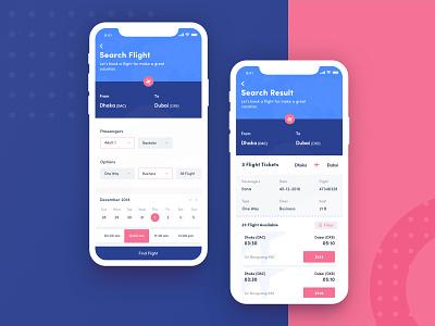 Flight Booking iOS App travel app minimal app 2018 trends ux iphonex ui app ios native apps design ui android app flight booking app ios app