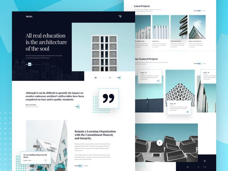 Architecture Firm - Landing page firm architect website design unsplash construction building blocks interior design architechture ui design typography ux best website 2018 2018 trends