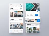 Social Feed & Profile Screen iOS App